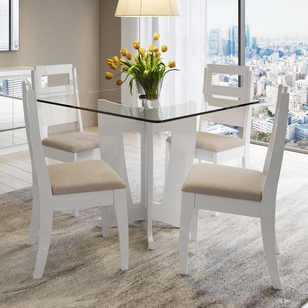 Sala De Jantar Triangular ~ toqueacampainha Ambientes Sala de Jantar Conjunto de Mesa com Cadeiras