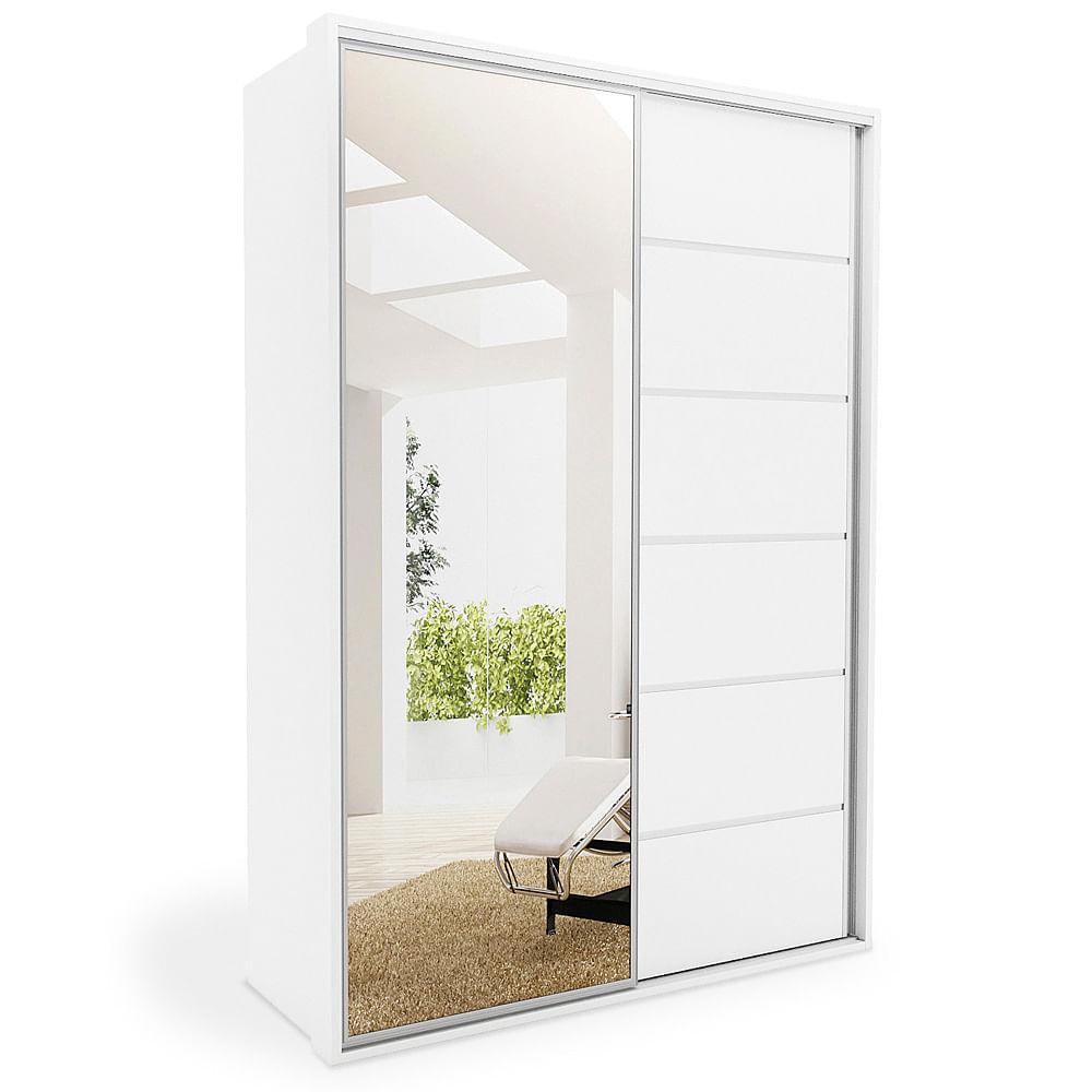 Interior Armario Kvikne Ikea ~ Guarda Roupa 2 portas de correr com espelho, Branco Acetinado 1,67m, Isis toqueacampainha