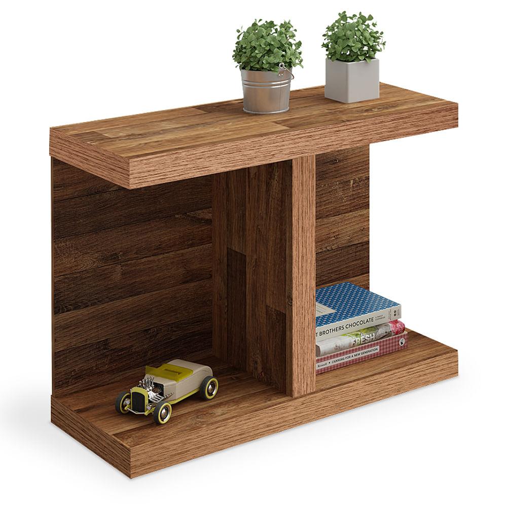 Mesa de canto lateral r stica troia toqueacampainha for Mesas de centro pequenas