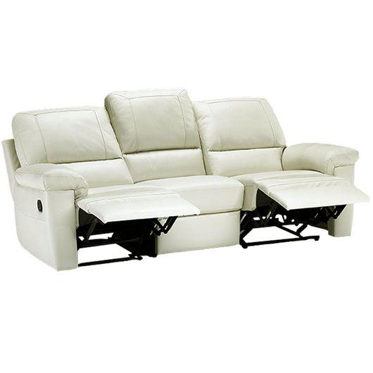 Sof retr til e reclin vel 3 lugares cor bege divano for Sofa 03 lugares retratil e reclinavel