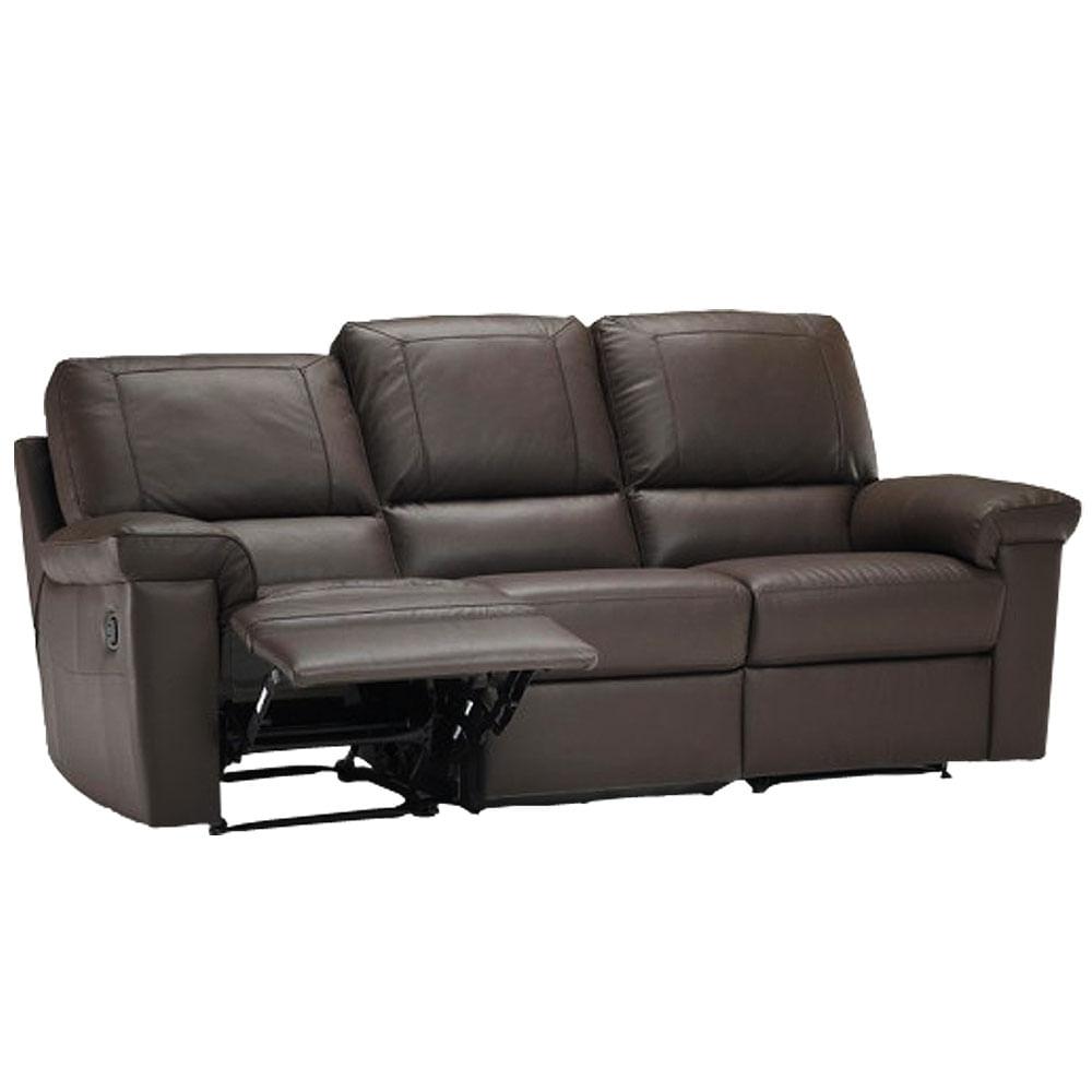Sof retr til e reclin vel 3 lugares cor marrom divano for Sofa 4 lugares retratil
