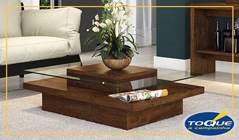 Mesa de centro ofertas para decorar sua casa toque a - Mesa de centro sala ...