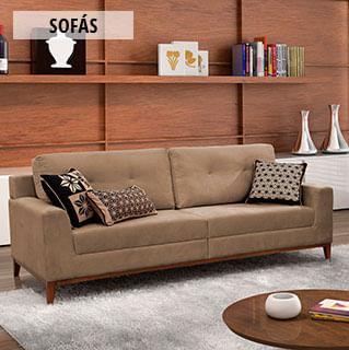 M veis para sala de estar sof s e muito mais toque a for Sofas modernos para salas pequenas