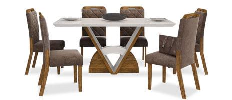 Mesas com 6 cadeiras