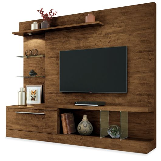 Estante para tv de at 60 polegadas com lumin ria canyon - Estantes de pared originales ...
