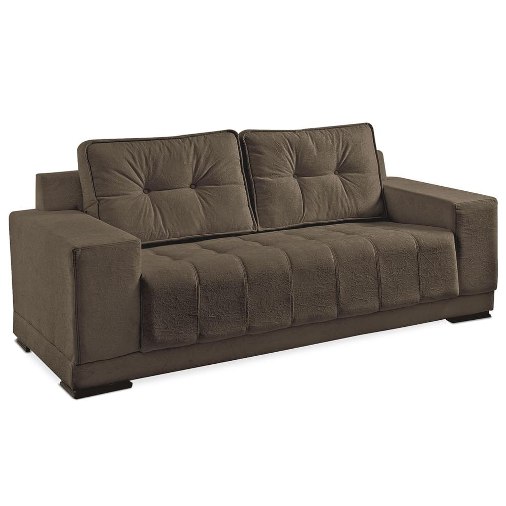 sof 3 lugares p tabaco super suede chocolate vigo toqueacampainha. Black Bedroom Furniture Sets. Home Design Ideas