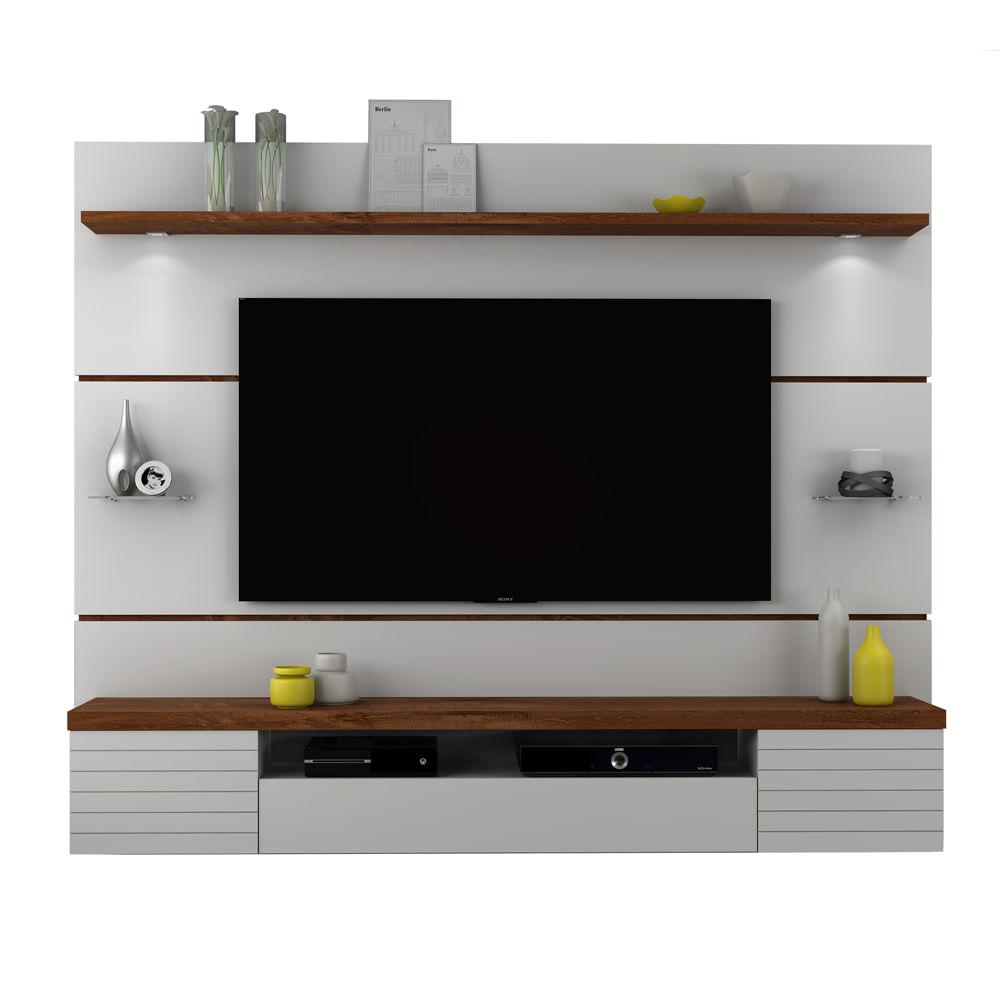 Painel para tv de at 55 polegadas com 2 lumin rais de led for Sala de estar infantil