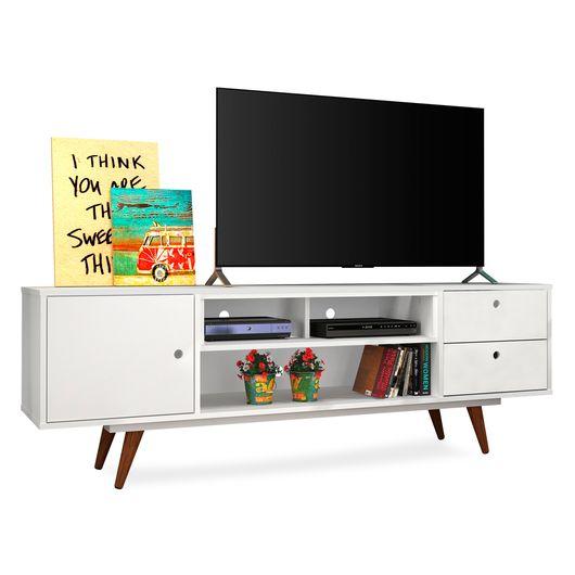 Rack Para TVs De Até 47 Polegadas, Branco, Vintage 80 II