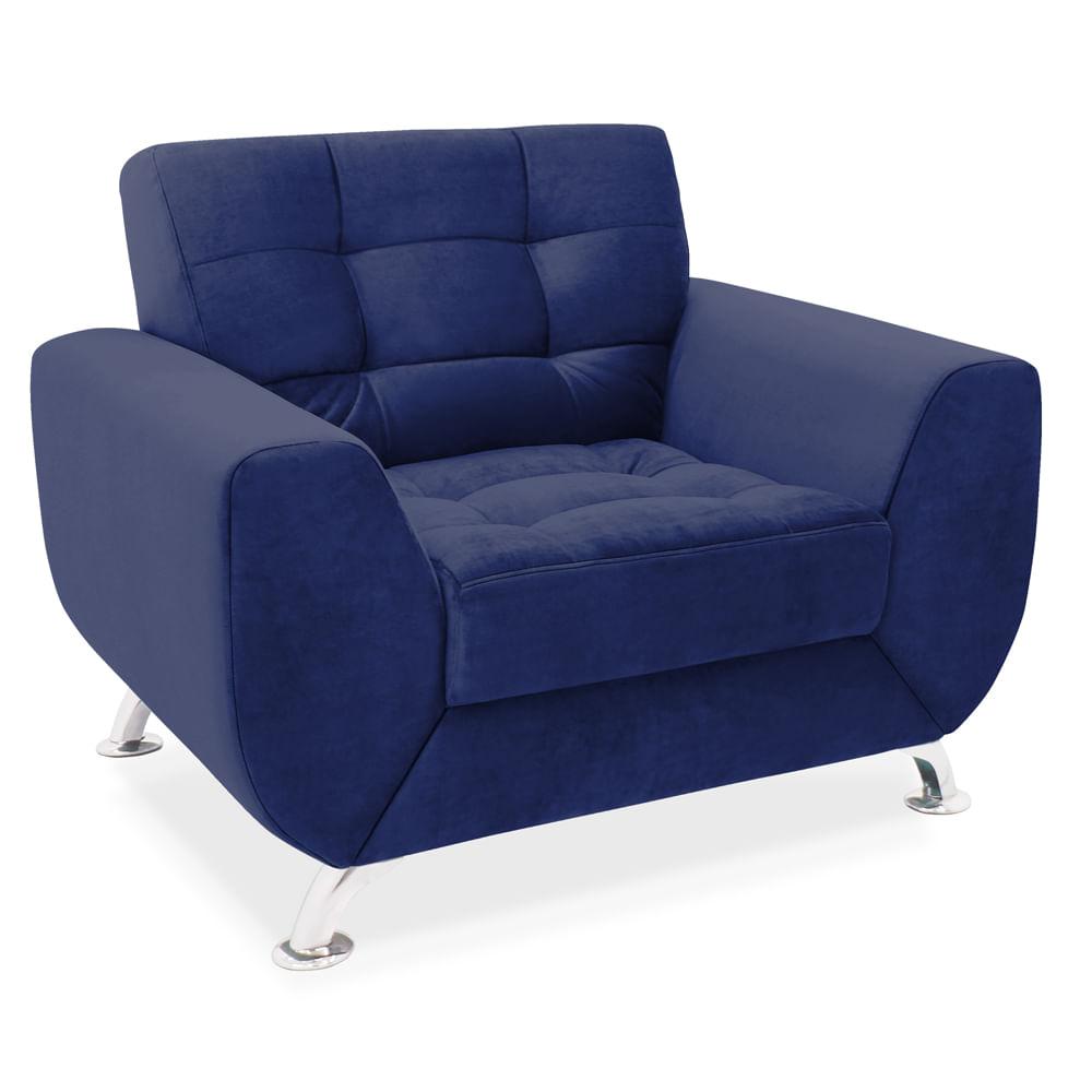 Poltrona Decorativa Suede Velvet Azul Luxor Toqueacampainha -> Tapetes Para Sala Luxor
