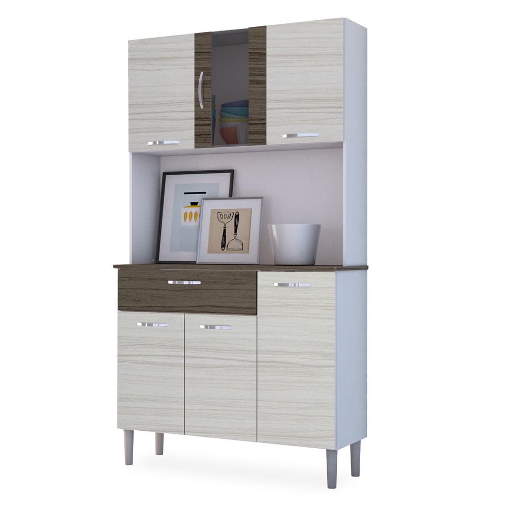 Kit Cozinha Compacta Branco Com Rovere E Dubai Sofia Toqueacampainha