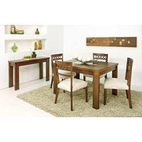 Conjunto para Sala de Jantar com Mesa Retangular e 4 Cadeiras, Imbuia, Samara