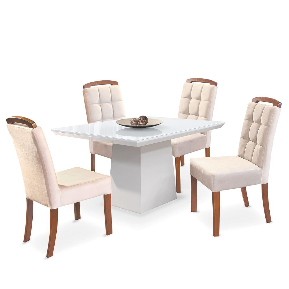 Excepcional Mesa de Jantar com 4 Cadeiras em Oferta | Toque a Campainha BO76
