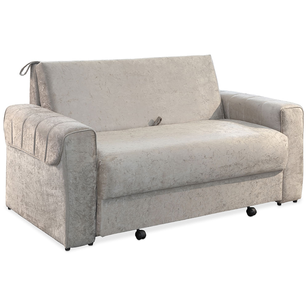 Sof cama casal super suede palha t kio toqueacampainha for Outlet de sofa cama