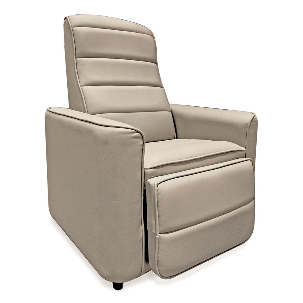 Poltrona reclin vel corino bege star ii toqueacampainha for Sofas individuales comodos