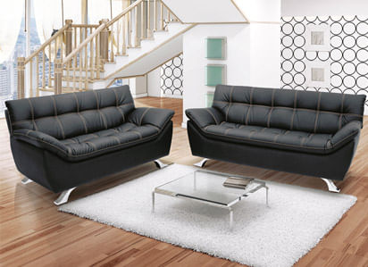 sofa de couro toqueacampainha
